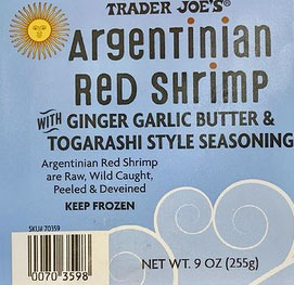Trader Joe's Argentinian Red Shrimp