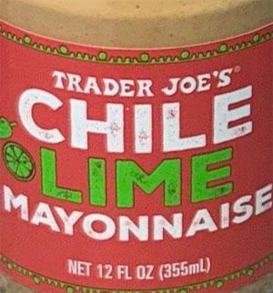 Trader Joe's Chile Lime Mayonnaise