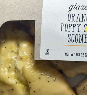 Trader Joe's Glazed Orange Poppy Seed Scones
