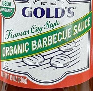 Gold's Kansas City Style Organic Barbecue Sauce