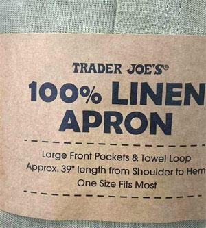Trader Joe's 100% Linen Apron