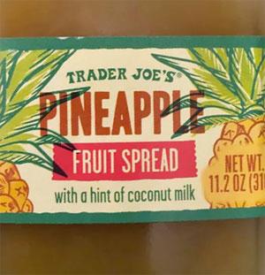 Trader Joe's Pineapple Fruit Spread