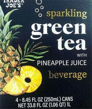 Trader Joe's Sparkling Green Tea with Pineapple Juice Beverage