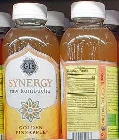 GT's Synergy Golden Pineapple Raw Kombucha