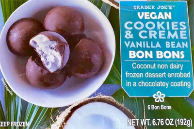 Trader Joe's Vegan Cookies & Creme Vanilla Bean Bon Bons