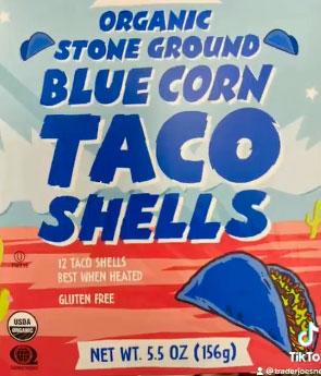 Trader Joe's Organic Stone Ground Blue Corn Taco Shells
