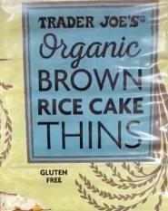Trader Joe's Organic Brown Rice Thins