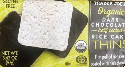 Trader Joe's Organic Dark Chocolate Half-Coated Rice Cake Thins