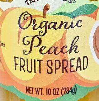 Trader Joe's Organic Peach Fruit Spread