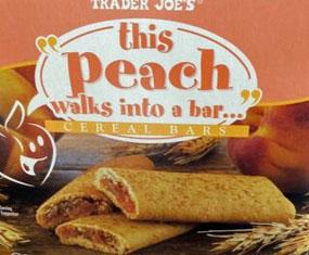 Trader Joe's This Peach Walks into a Bar Cereal Bars