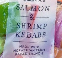 Trader Joe's Salmon & Shrimp Kebabs