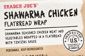 Trader Joe's Shawarma Chicken Flatbread Wrap Reviews