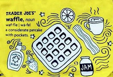Trader Joe's Breakfast-Themed Waffles & Toast Tote Bags