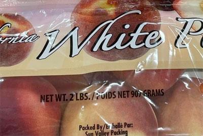 California White Peaches