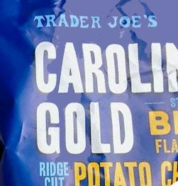 Trader Joe's Carolina Gold Style BBQ Flavored Ridge Cut Potato Chips