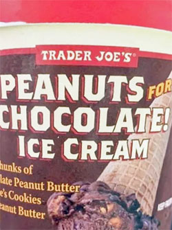 Trader Joe's Peanuts for Chocolate Ice Cream Reviews