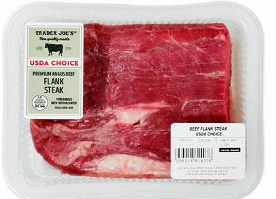 Trader Joe's USDA Choice Premium Angus Beef Flank Steak