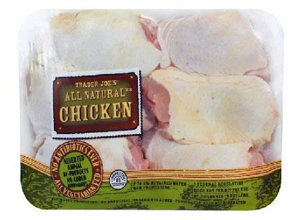 Trader Joe's All Natural Bone-In Skin-On Chicken Thighs