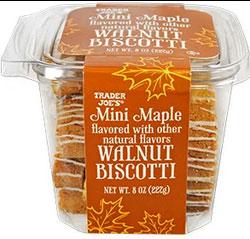 Trader Joe's Mini Maple Walnut Biscotti