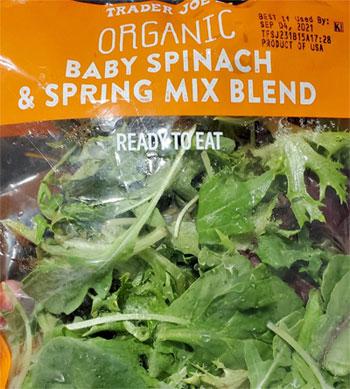Trader Joe's Organic Baby Spinach & Spring Mix Blend
