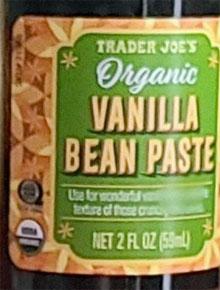 Trader Joe's Organic Vanilla Bean Paste