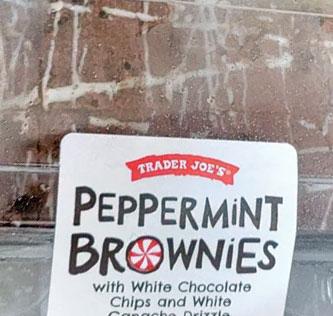 Trader Joe's Peppermint Brownies