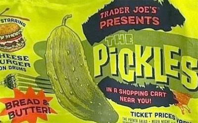 Trader Joe's Pickles 100% Cotton Reusable Tote Bag