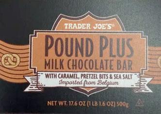 Trader Joe's Pound Plus Milk Chocolate Bar with Caramel, Pretzel Bits & Sea Salt Reviews
