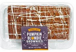Trader Joe's Pumpkin Blondie Brownies