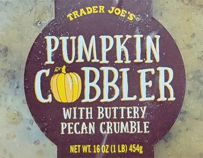 Trader Joe's Pumpkin Cobbler with Buttery Pecan Crumble