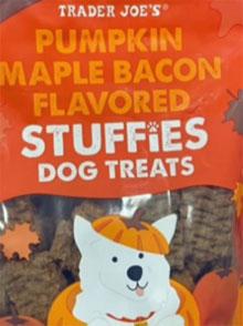 Trader Joe's Pumpkin Maple Bacon Flavored Stuffies Dog Treats